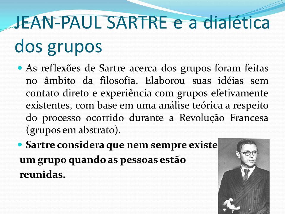 JEAN-PAUL SARTRE e a dialética dos grupos