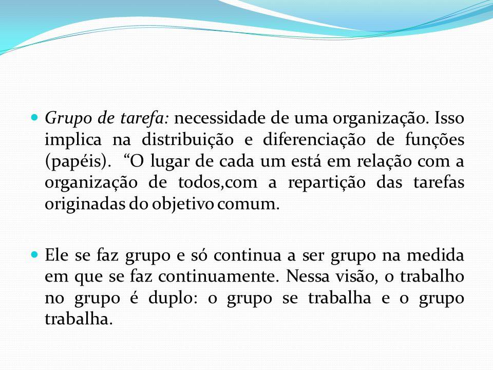 Grupo de tarefa: necessidade de uma organização