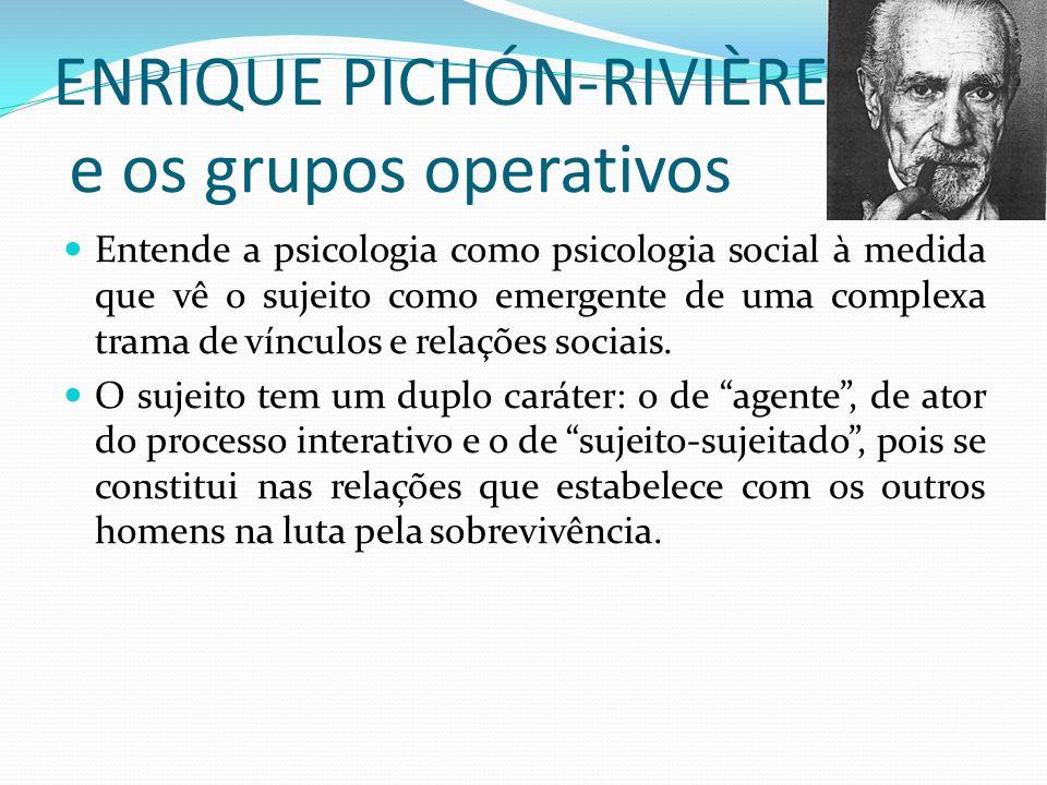 ENRIQUE PICHÓN-RIVIÈRE e os grupos operativos