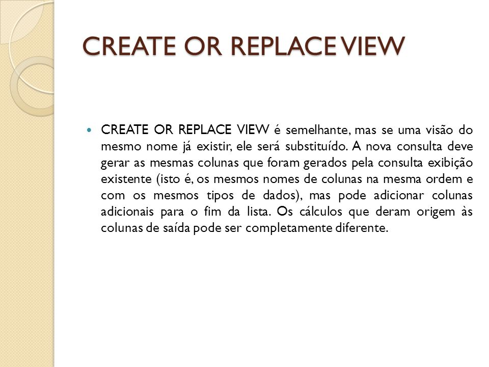 CREATE OR REPLACE VIEW
