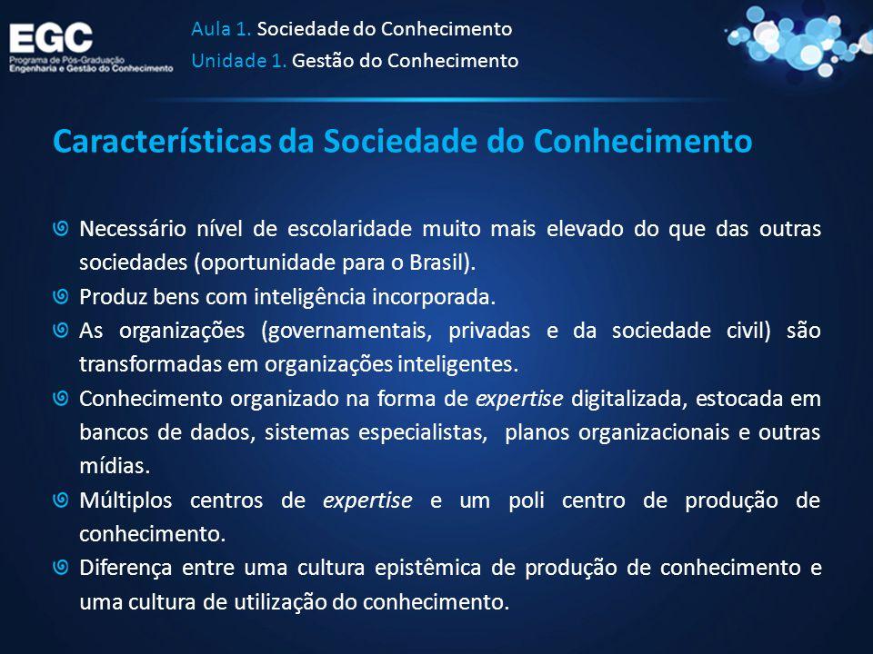 Características da Sociedade do Conhecimento