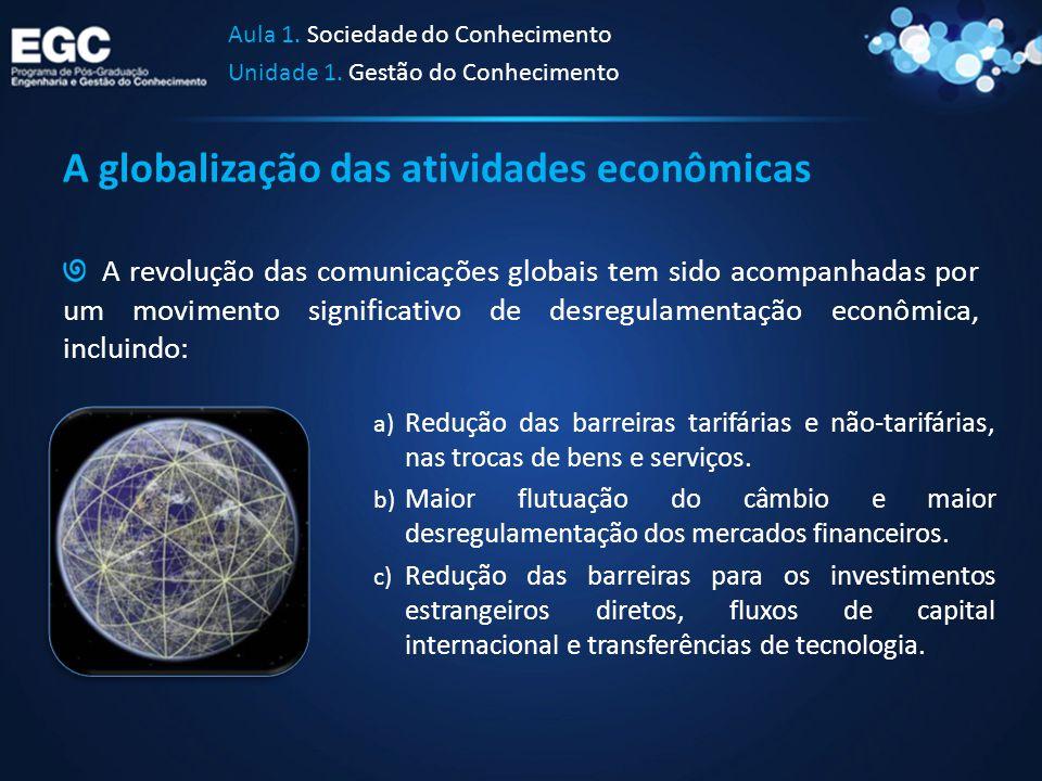A globalização das atividades econômicas