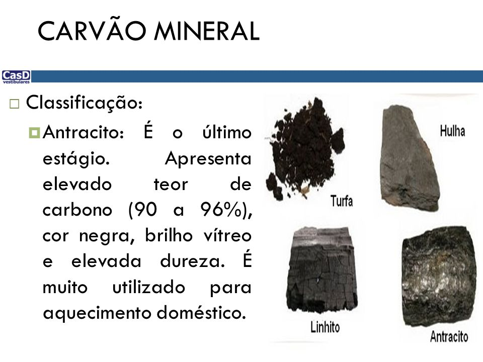 CARVÃO MINERAL Classificação: