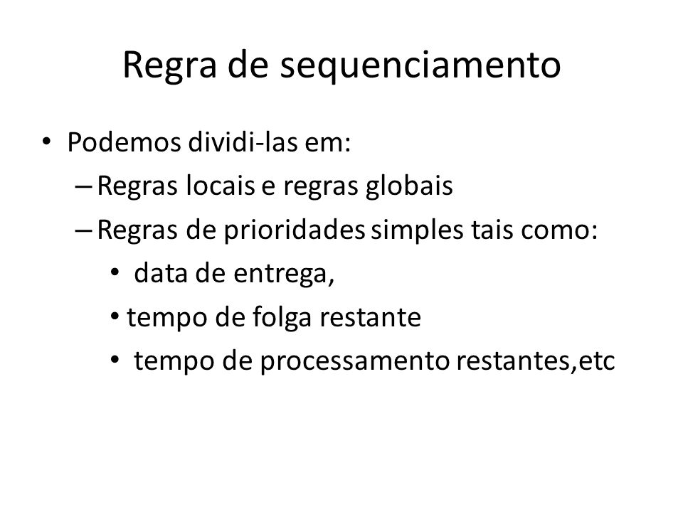 Regra de sequenciamento