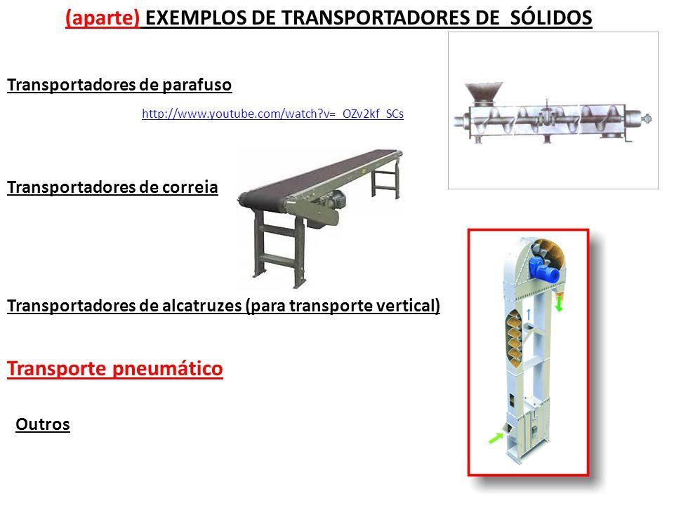 (aparte) EXEMPLOS DE TRANSPORTADORES DE SÓLIDOS