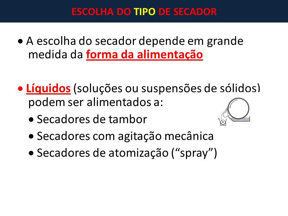 ESCOLHA DO TIPO DE SECADOR