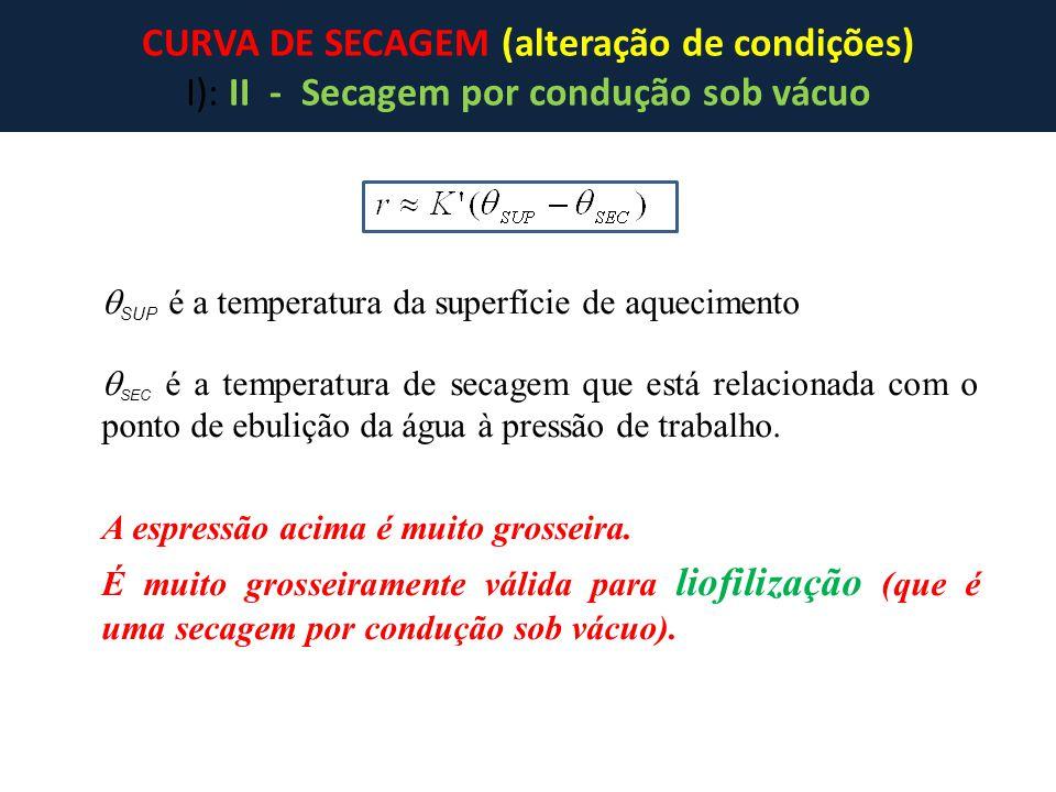 CURVA DE SECAGEM (alteração de condições)
