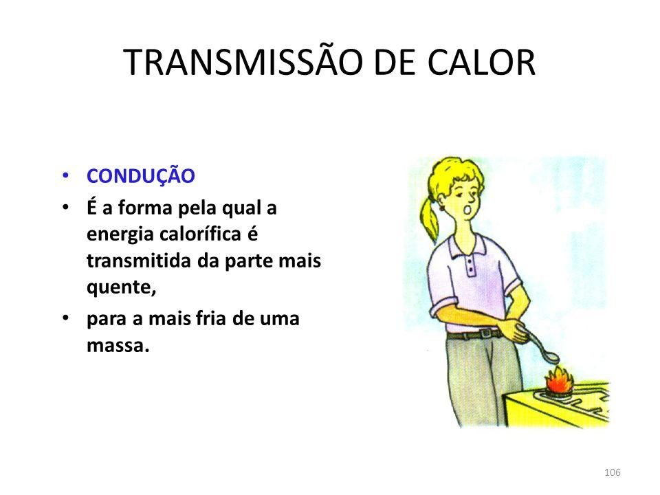 TRANSMISSÃO DE CALOR CONDUÇÃO