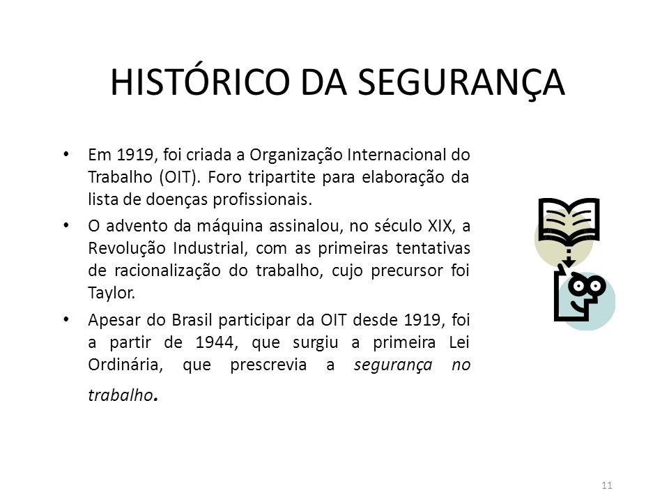 HISTÓRICO DA SEGURANÇA