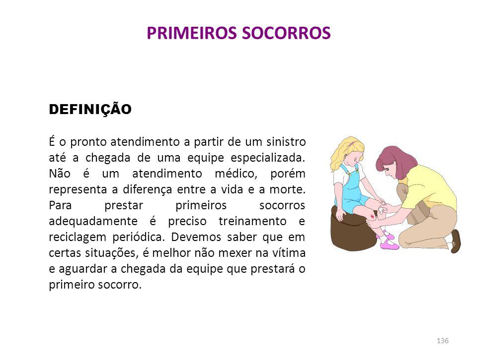 PRIMEIROS SOCORROS DEFINIÇÃO