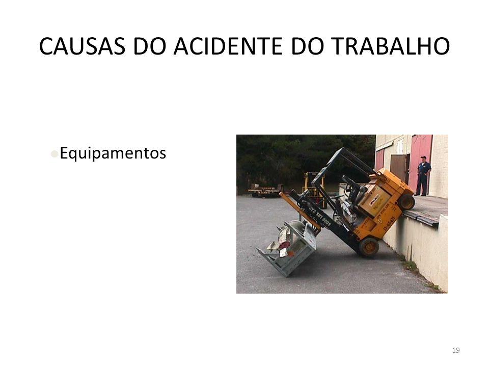 CAUSAS DO ACIDENTE DO TRABALHO