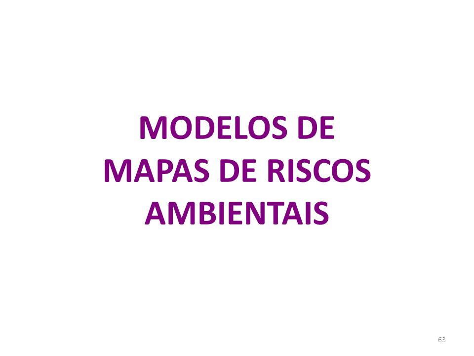 MODELOS DE MAPAS DE RISCOS AMBIENTAIS