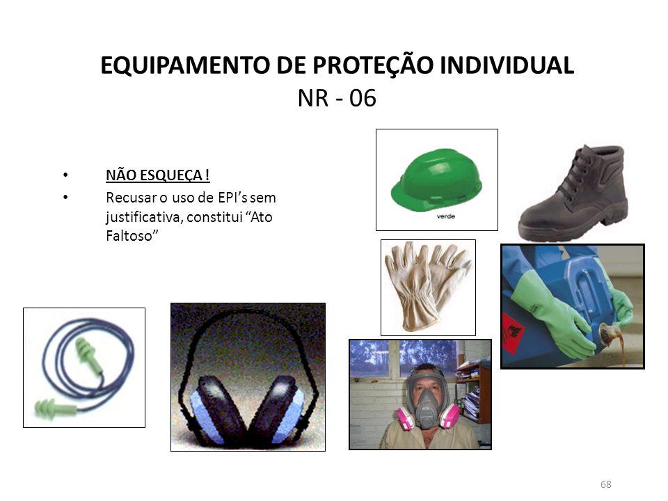EQUIPAMENTO DE PROTEÇÃO INDIVIDUAL NR - 06
