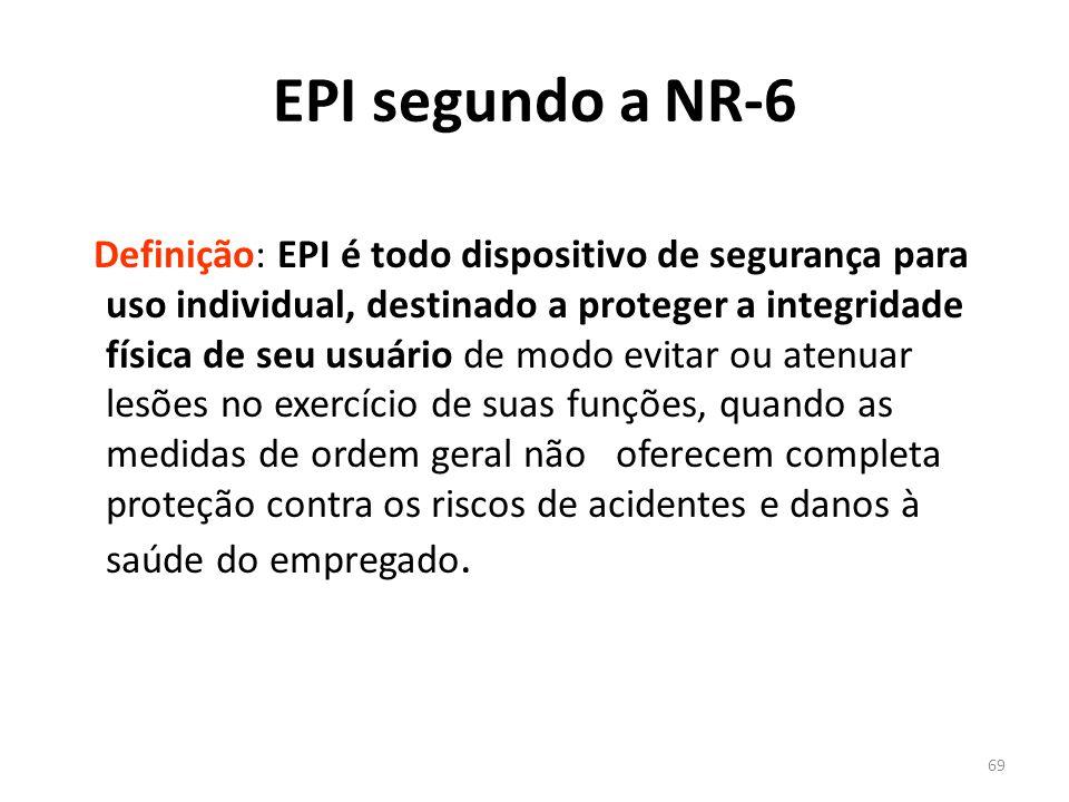 EPI segundo a NR-6