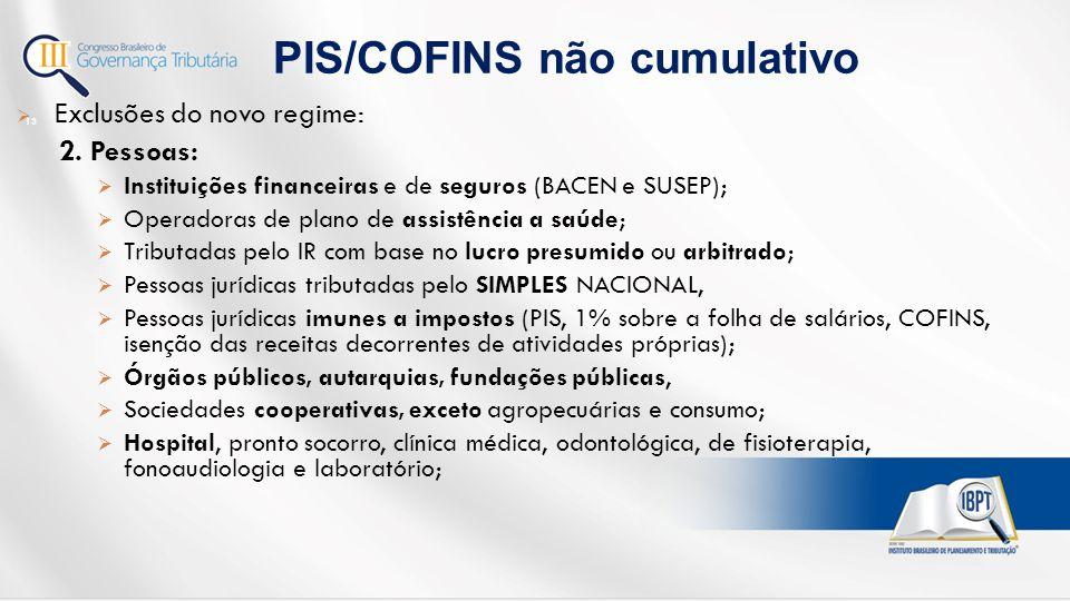 PIS/COFINS não cumulativo
