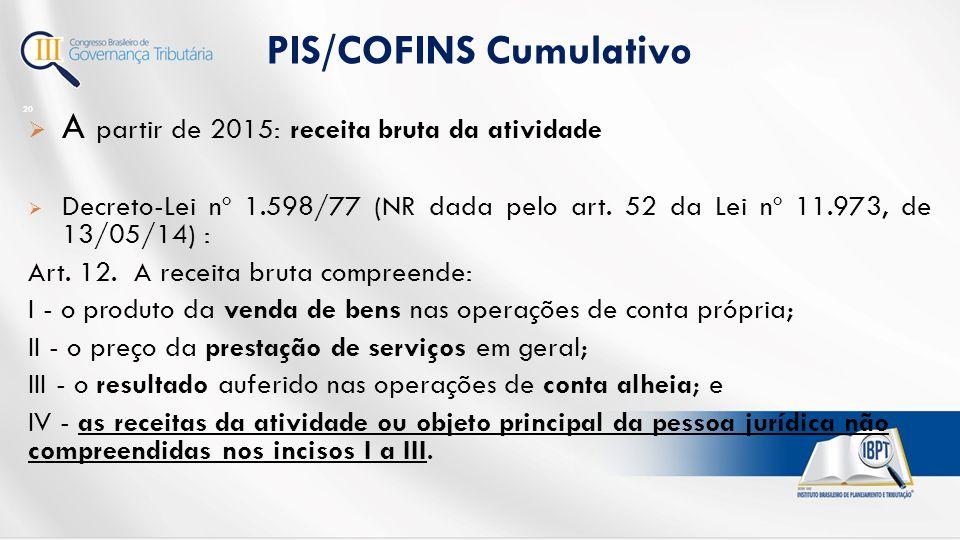 PIS/COFINS Cumulativo