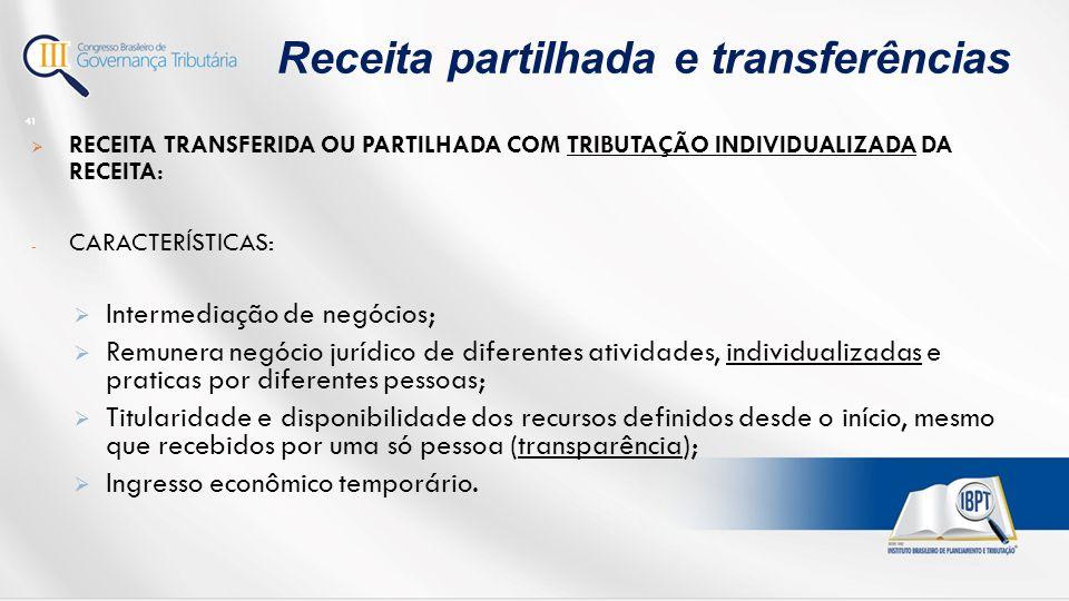 Receita partilhada e transferências