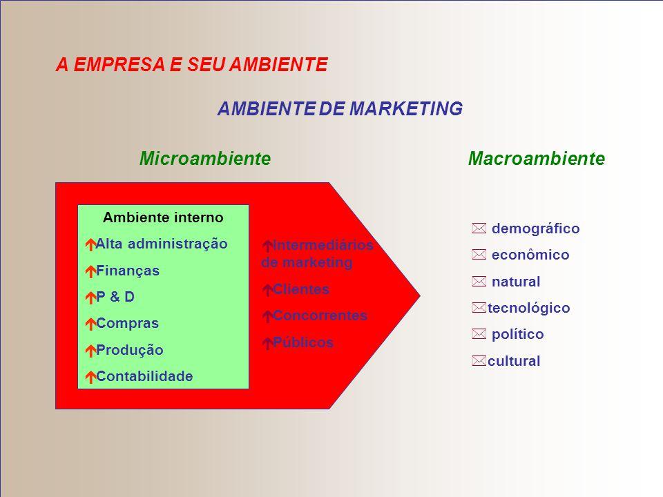 AMBIENTE DE MARKETING Microambiente Macroambiente