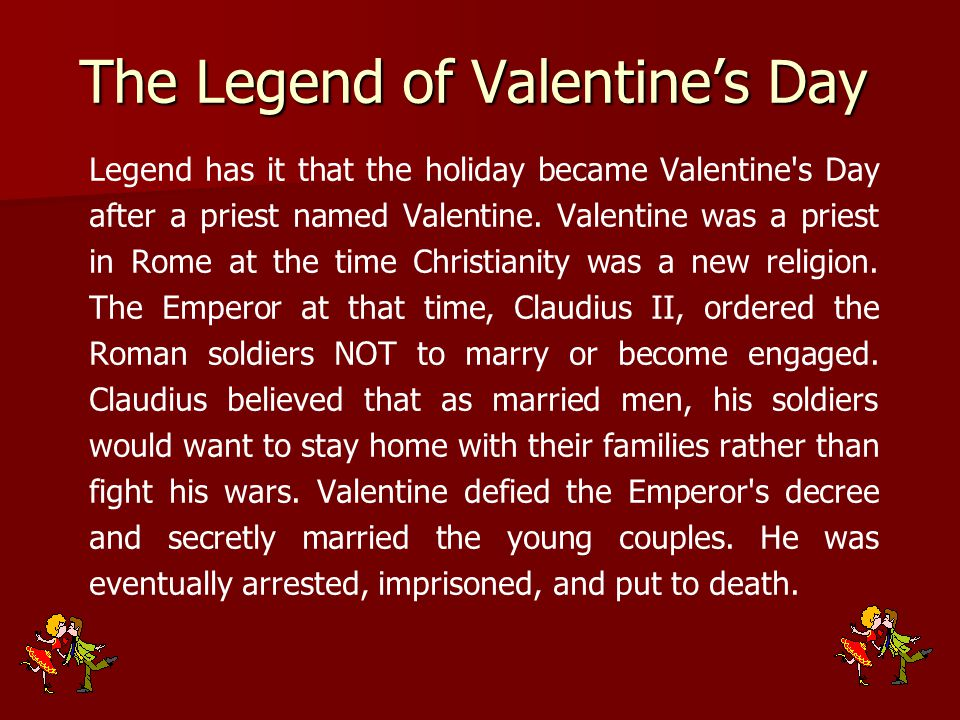 The Legend of Valentine's Day