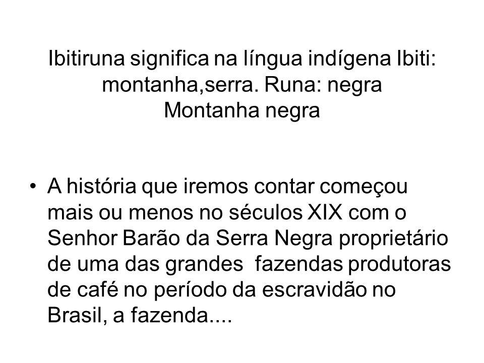 Ibitiruna significa na língua indígena Ibiti: montanha,serra
