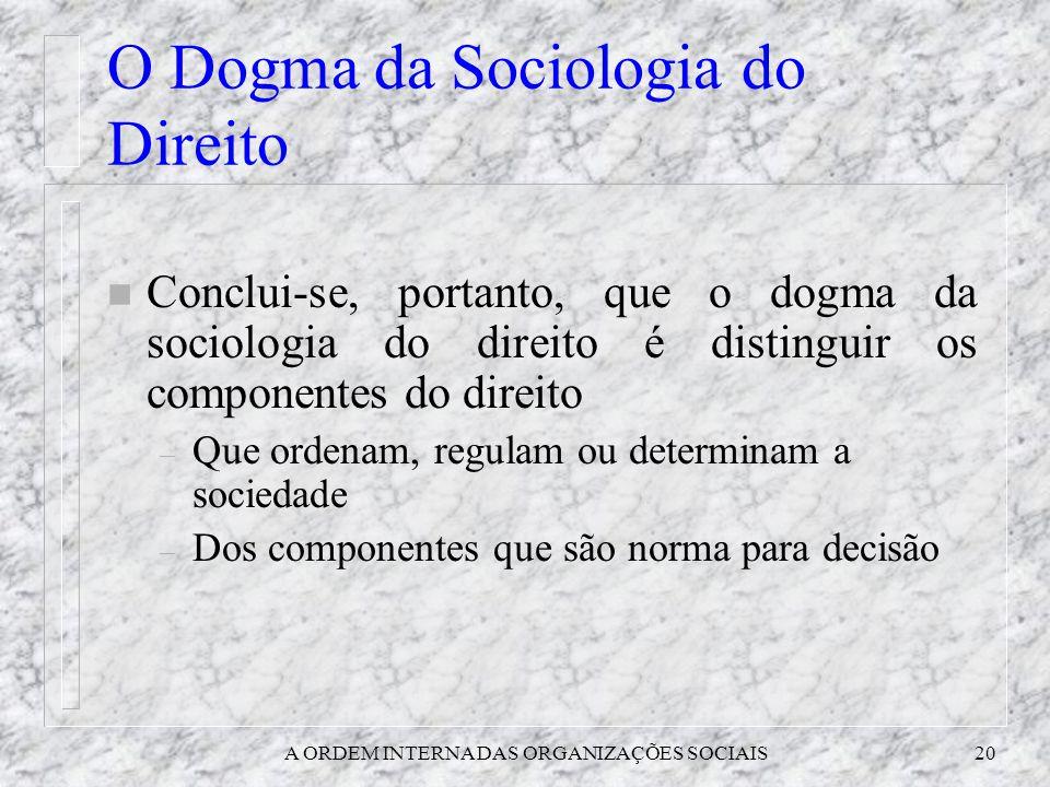O Dogma da Sociologia do Direito