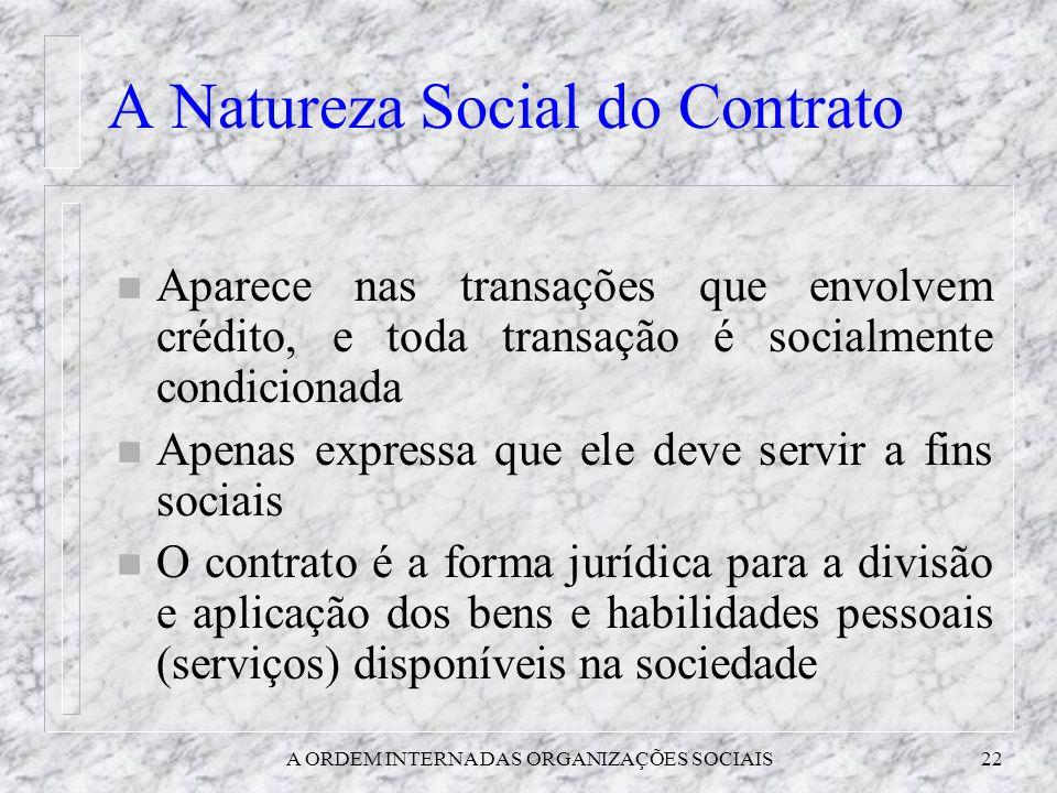 A Natureza Social do Contrato