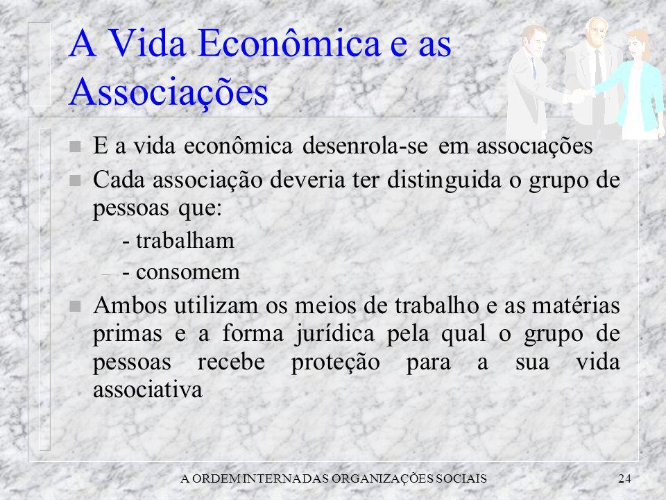 A Vida Econômica e as Associações