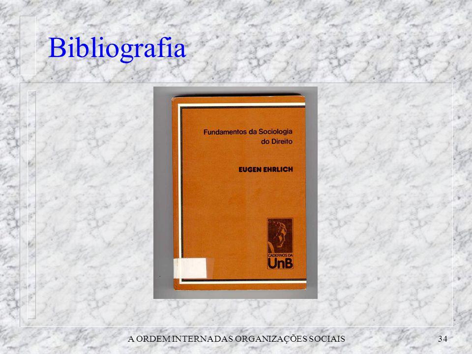 A ORDEM INTERNA DAS ORGANIZAÇÕES SOCIAIS
