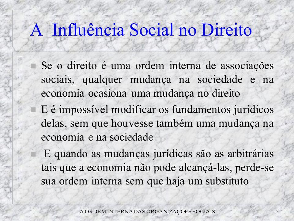 A Influência Social no Direito
