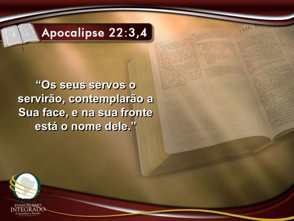 Os seus servos o servirão, contemplarão a Sua face, e na sua fronte está o nome dele.