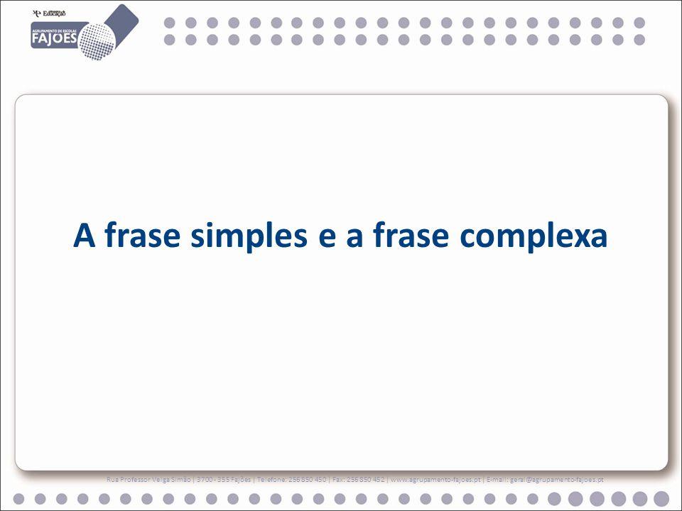 A frase simples e a frase complexa