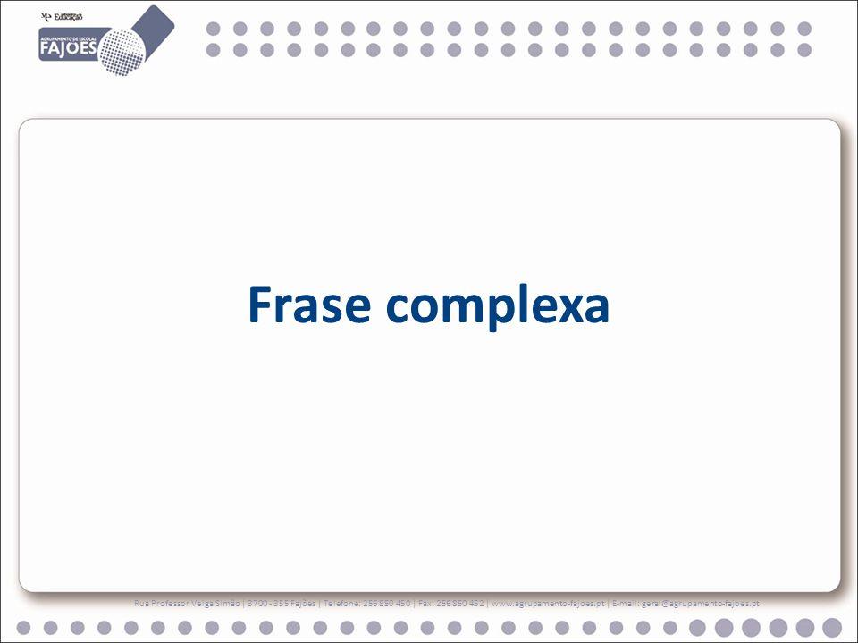 Frase complexa