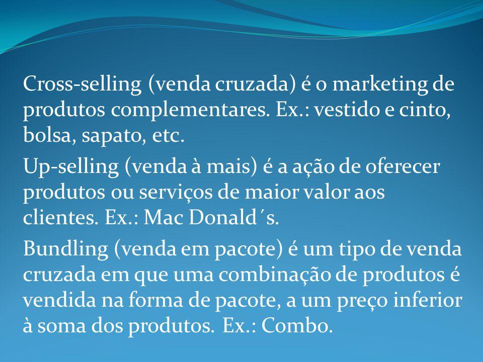 Cross-selling (venda cruzada) é o marketing de produtos complementares