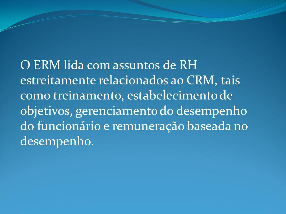 O ERM lida com assuntos de RH estreitamente relacionados ao CRM, tais como treinamento, estabelecimento de objetivos, gerenciamento do desempenho do funcionário e remuneração baseada no desempenho.