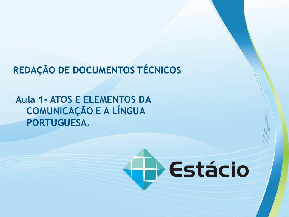 REDAÇÃO DE DOCUMENTOS TÉCNICOS