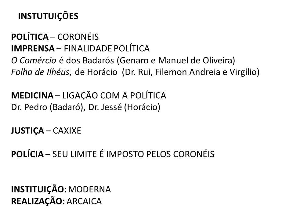 INSTUTUIÇÕES POLÍTICA – CORONÉIS. IMPRENSA – FINALIDADE POLÍTICA. O Comércio é dos Badarós (Genaro e Manuel de Oliveira)