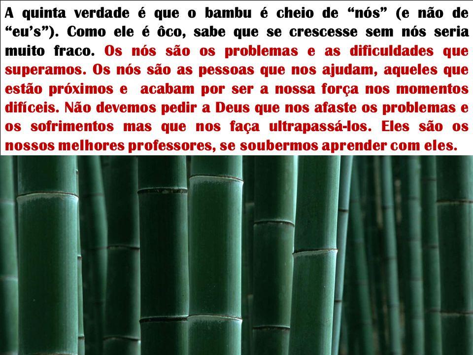 A quinta verdade é que o bambu é cheio de nós (e não de eu's )