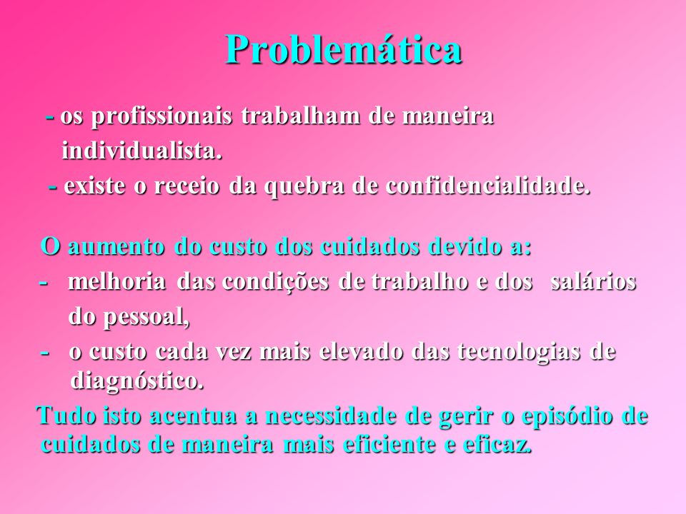 Problemática individualista.