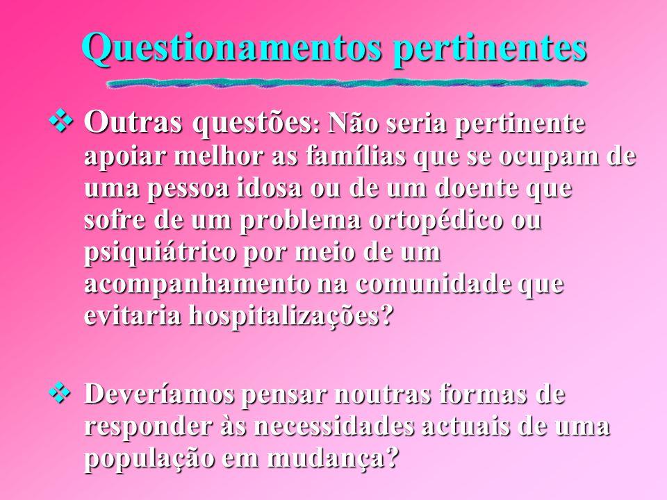 Questionamentos pertinentes