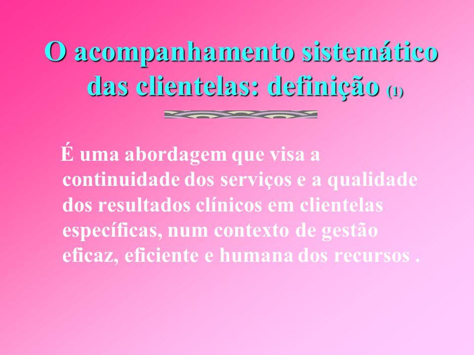 O acompanhamento sistemático das clientelas: definição (1)
