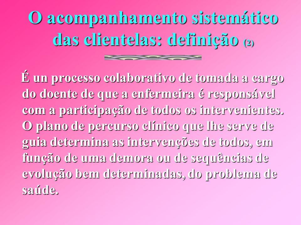 O acompanhamento sistemático das clientelas: definição (2)