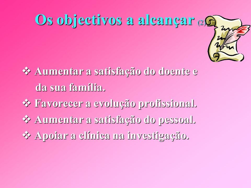 Os objectivos a alcançar (2)