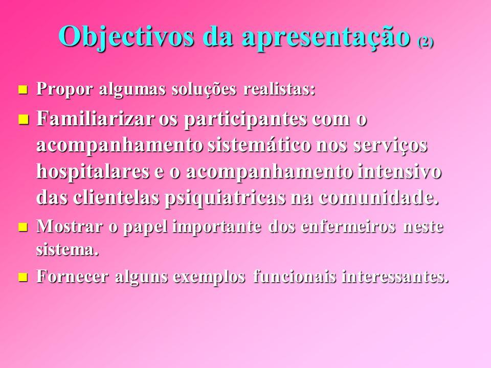 Objectivos da apresentação (2)