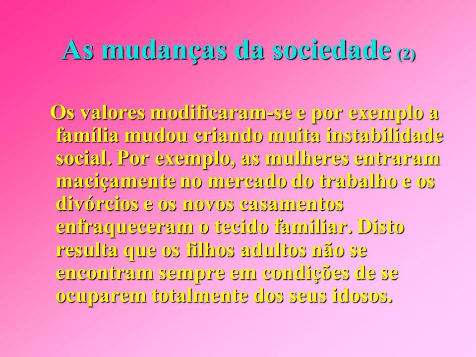 As mudanças da sociedade (2)