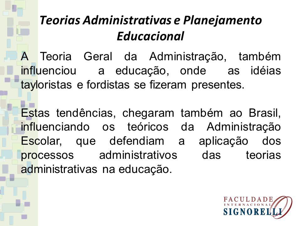 Teorias Administrativas e Planejamento Educacional