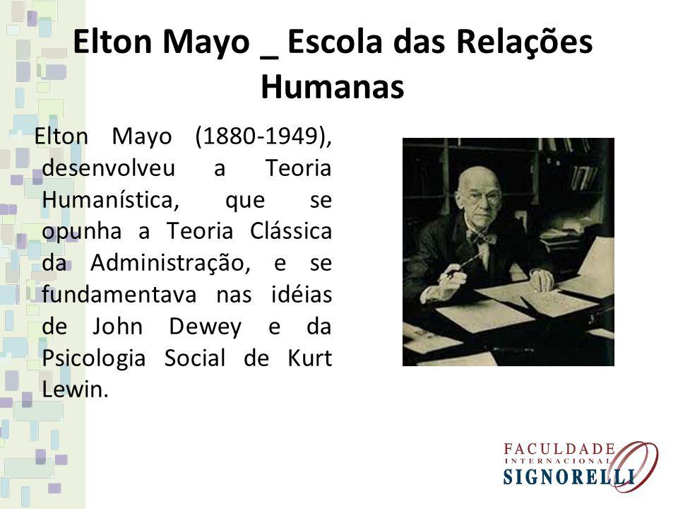 Elton Mayo _ Escola das Relações Humanas