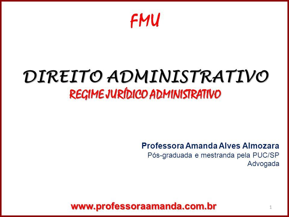 DIREITO ADMINISTRATIVO REGIME JURÍDICO ADMINISTRATIVO