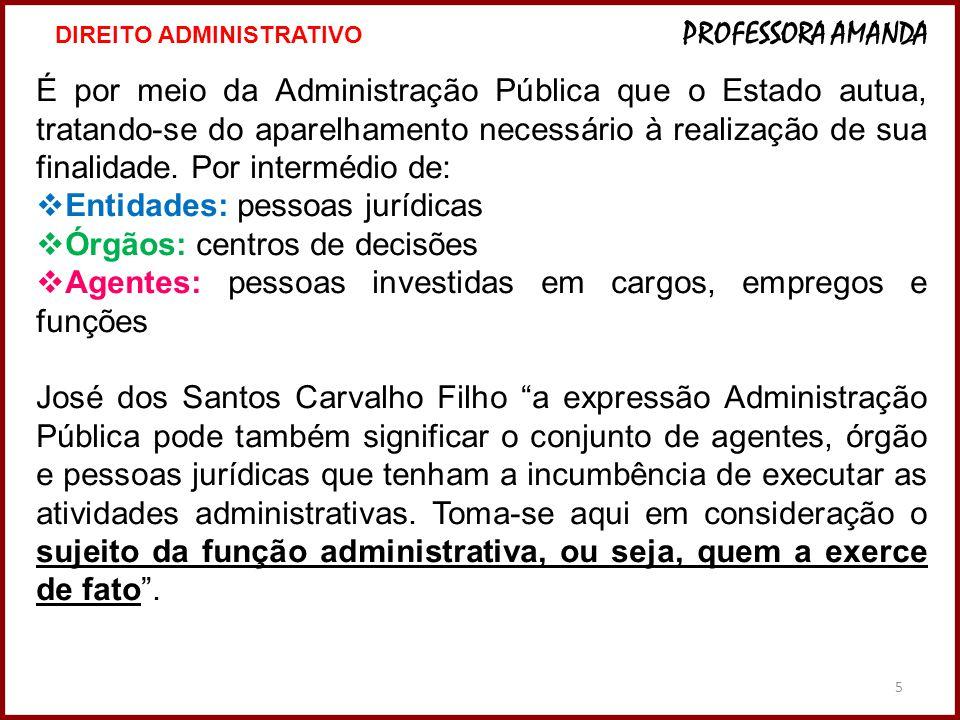 Entidades: pessoas jurídicas Órgãos: centros de decisões