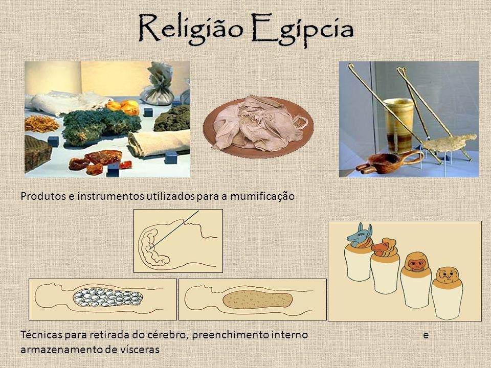 Religião Egípcia Produtos e instrumentos utilizados para a mumificação