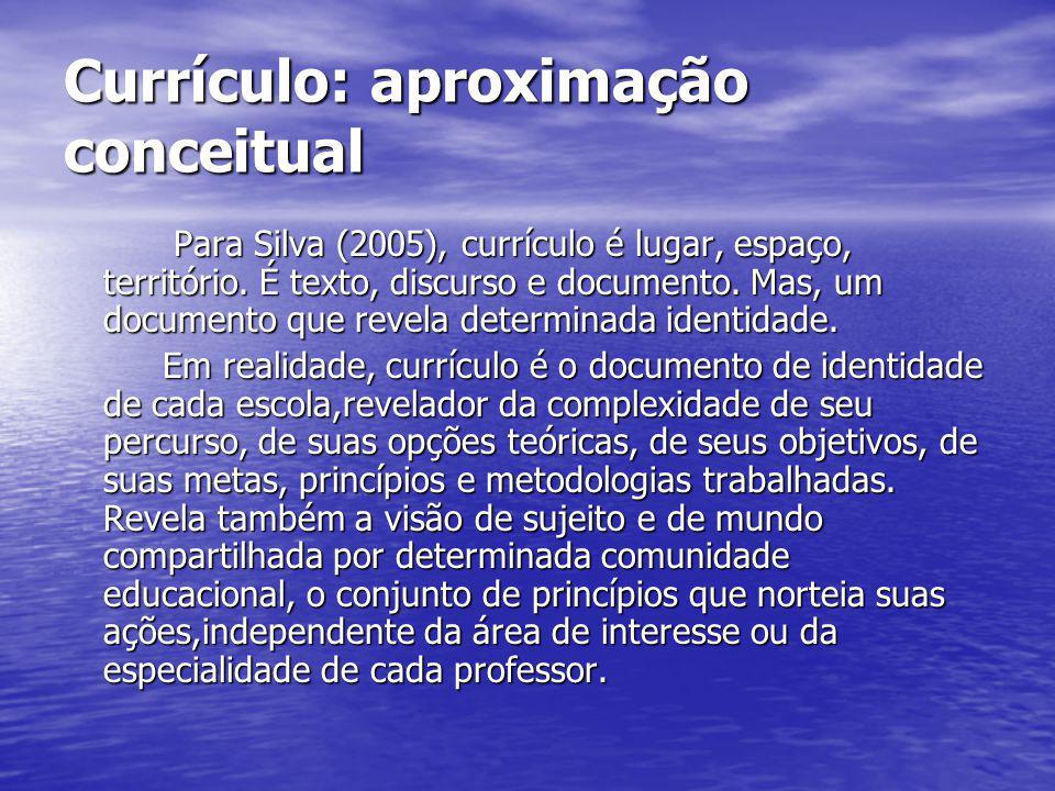 Currículo: aproximação conceitual